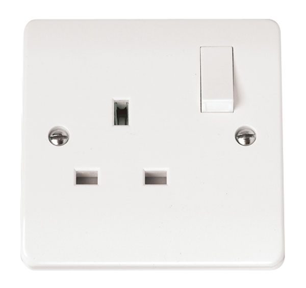 Click Scolmore MODE CMA035 13A 1 Gang DP Switched Socket Outlet