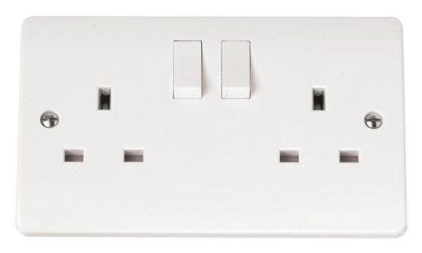 Click Scolmore MODE CMA036 13A 2 Gang DP Switched Socket Outlet
