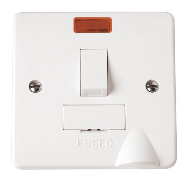 Click Scolmore MODE CMA052 13A Fused Connection Unit DP Switched With Flex Outlet Neon