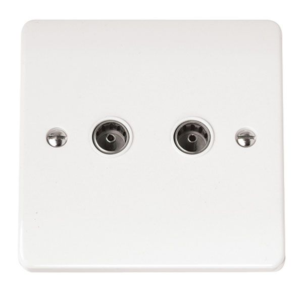 Click Scolmore MODE CMA066 Twin Coaxial Socket Outlet