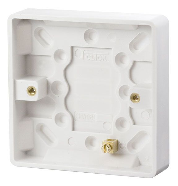 Click Scolmore MODE CMA080 1 Gang 16mm Deep Pattress Box