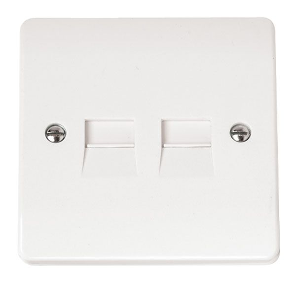 Click Scolmore MODE CMA122 Twin Telephone Outlet - Master