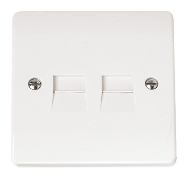Click Scolmore MODE CMA127 Twin Telephone Outlet - Secondary