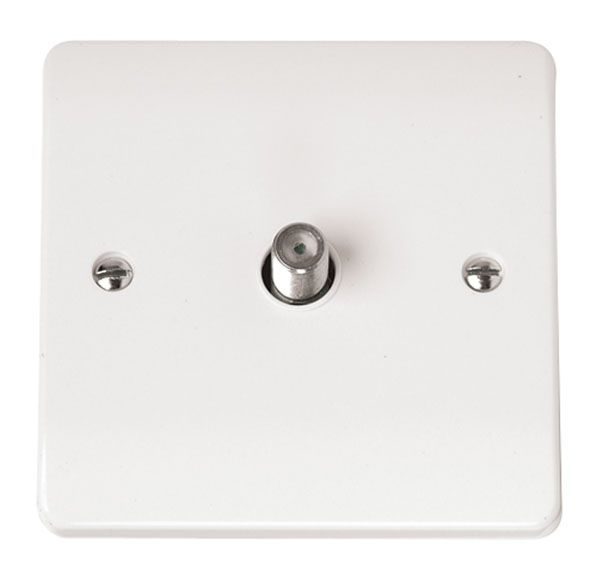 Click Scolmore MODE CMA156 Satellite Outlet Plate