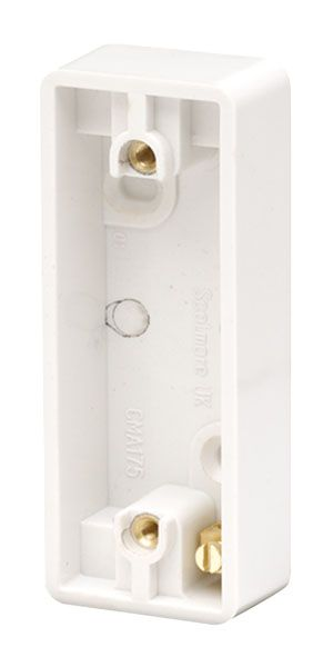 Click Scolmore MODE CMA175 10AX 1 Gang Architrave Pattress Box