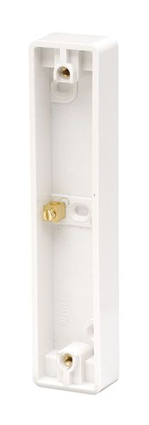 Click Scolmore MODE CMA176 10AX 2 Gang Architrave Pattress Box
