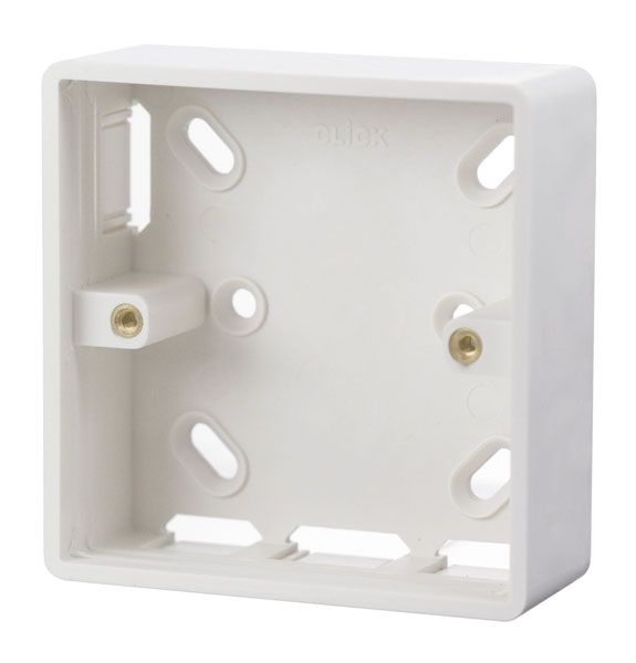 Click Scolmore MODE CMA230 1 Gang 29mm Deep PVC Pattress Box - Trunking