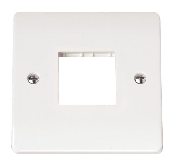 Click Scolmore MODE CMA402 Single Plate Twin Aperture