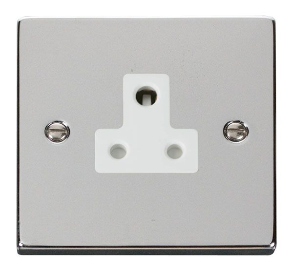 Click Scolmore VPCH038WH 5A Round Pin Socket Outlet