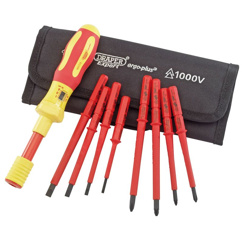 DRAPER TOOLS  Ergo Plus Interchangeable VDE Torque screwdriver set 65372