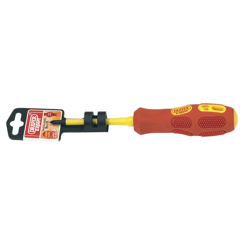 Draper Tools No.1 x 80mm Fully Insulated Cross Slot Screwdriver  69222