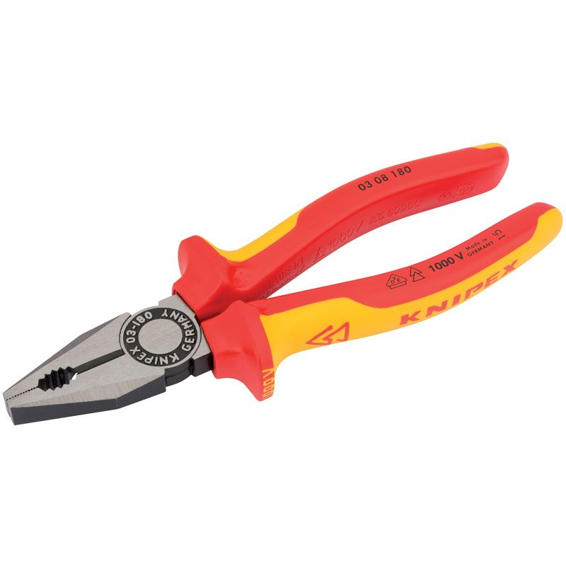 Draper Tools VDE Fully Insulated Combination Pliers 180mm 31918