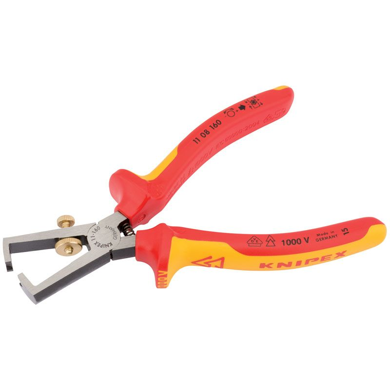 Draper Tools VDE Fully Insulated Wire Stripping Pliers 160mm 31930 KNIPEX