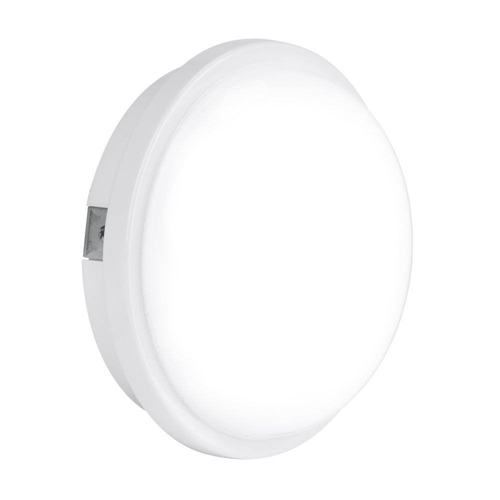 Enlite EN-BH115/40 240V 15W IP65 Polycarbonate Round LED Bulkhead White 4000K