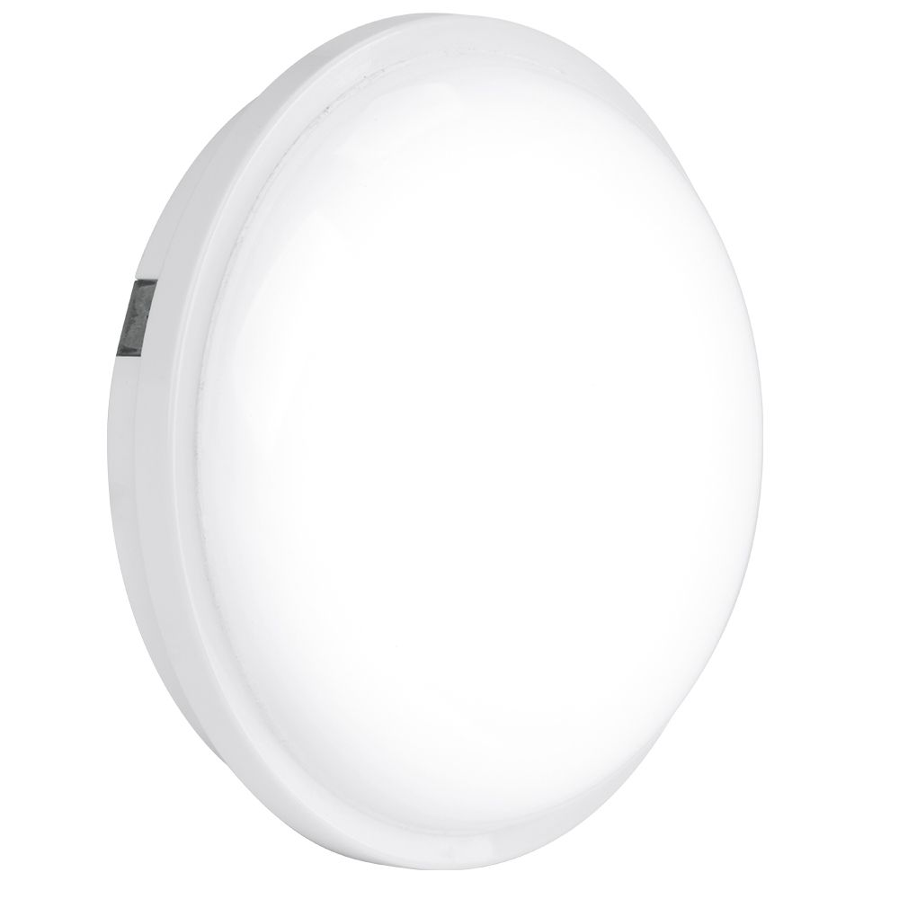Enlite EN-BH120/40 240V 20W IP65 Polycarbonate Round LED Bulkhead White 4000K