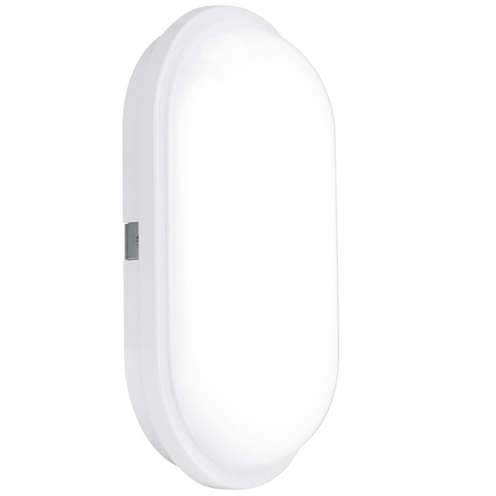 Enlite EN-BH220/40 240V 20W IP65 Polycarbonate Oval LED Bulkhead White 4000K