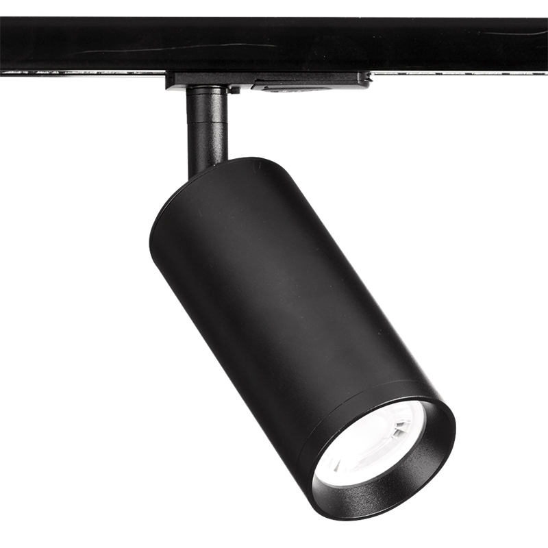 Enlite EN-TK1BLK GU10 60x130mm Adjustable Long Single Circuit Track Spotlight Black