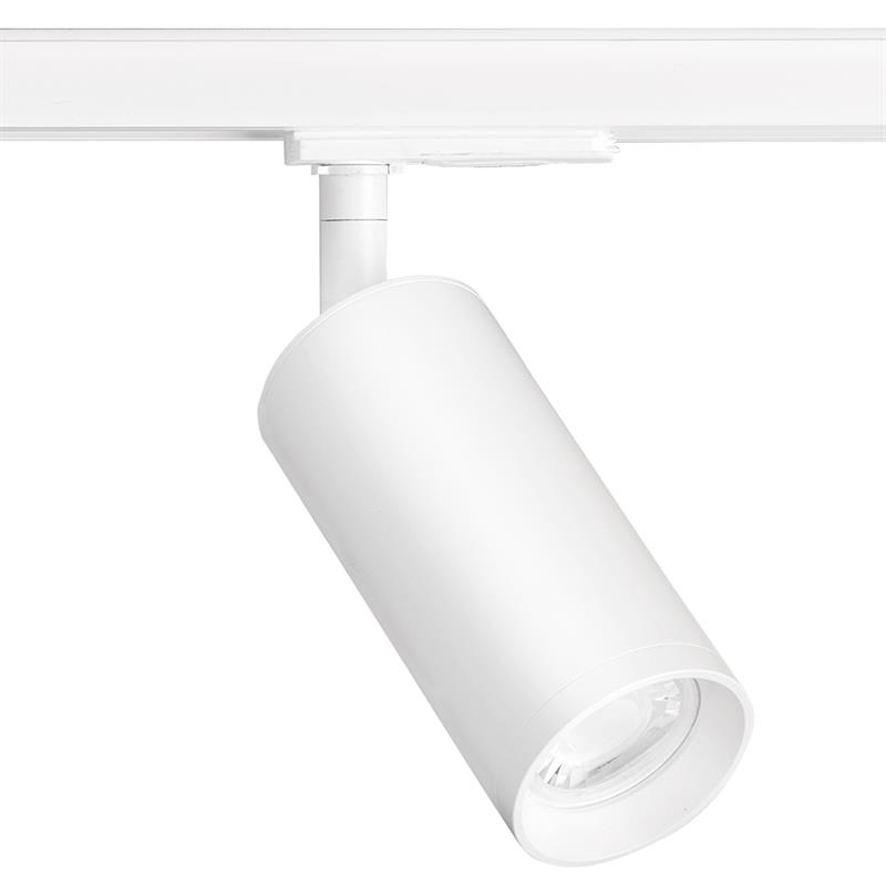 Enlite EN-TK1W GU10 60x130mm Adjustable Long Single Circuit Track Spotlight White