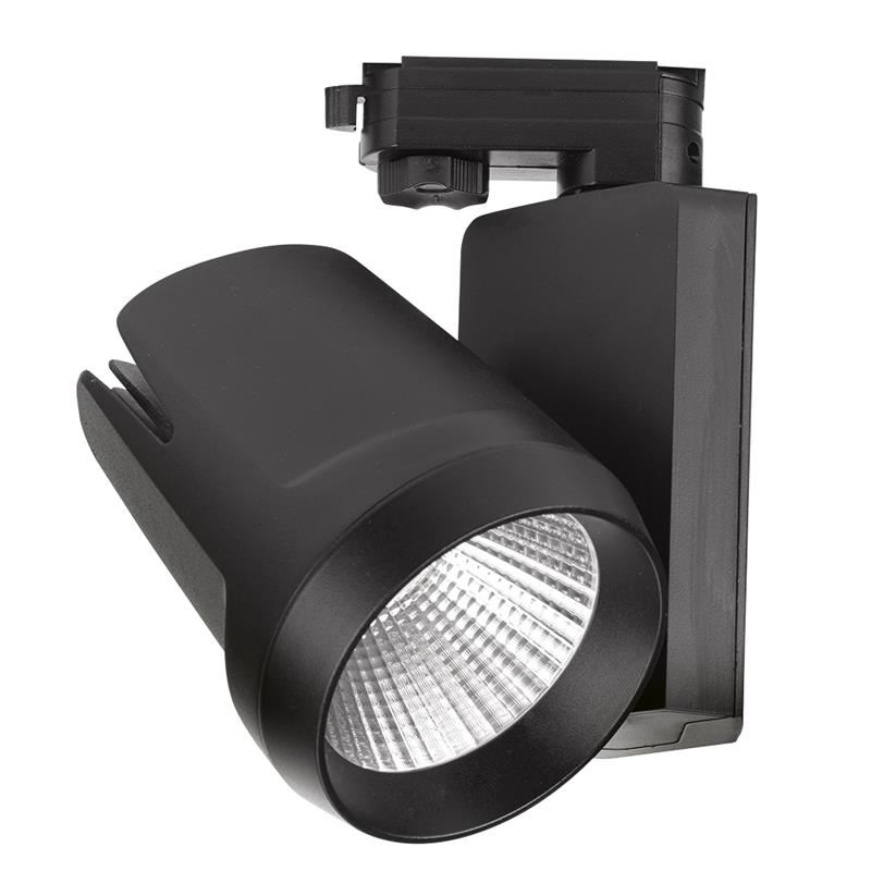 Enlite EN-TK4524BLK/40 45W 4500lm Non Dimmable Adjustable 3-Circuit Track LED Spotlight Black 4000K