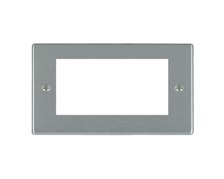 Hartland 74 EURO4 Stainless Steel 4 Gang Euro Module Plate