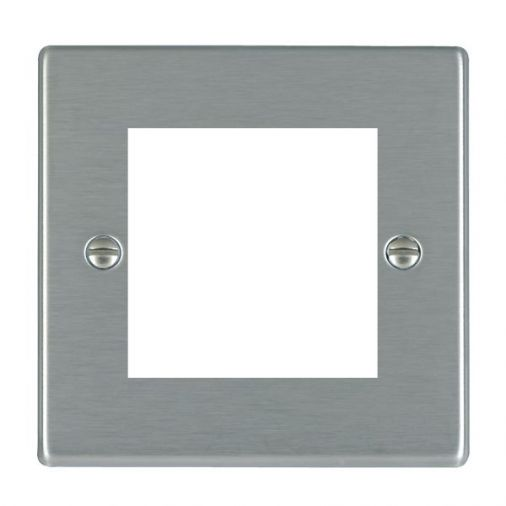 Hartland 74EURO2 Stainless Steel 2 Gang Euro Module Plate