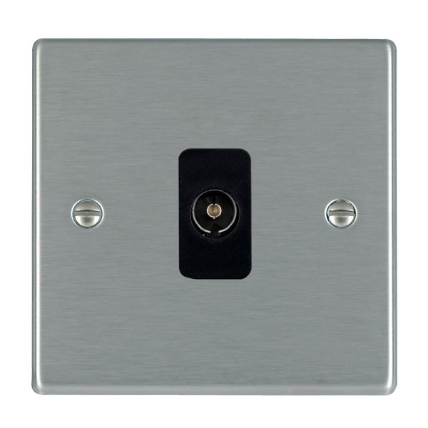Hartland 74TV-B and 74TV-W Stainless Steel TV Socket