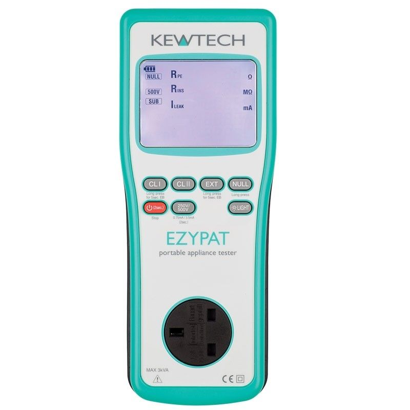 Kewtech EZYPAT Battery Operated PAT tester
