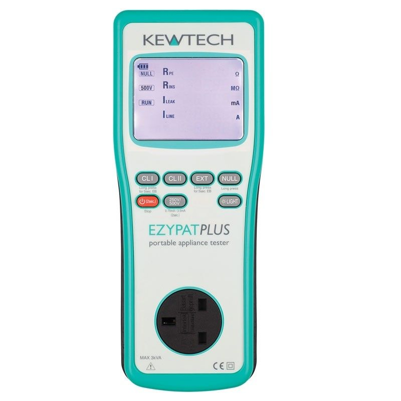 Kewtech EZYPAT PLUS Battery Operated 230V/110V Run Leakage Pat Tester