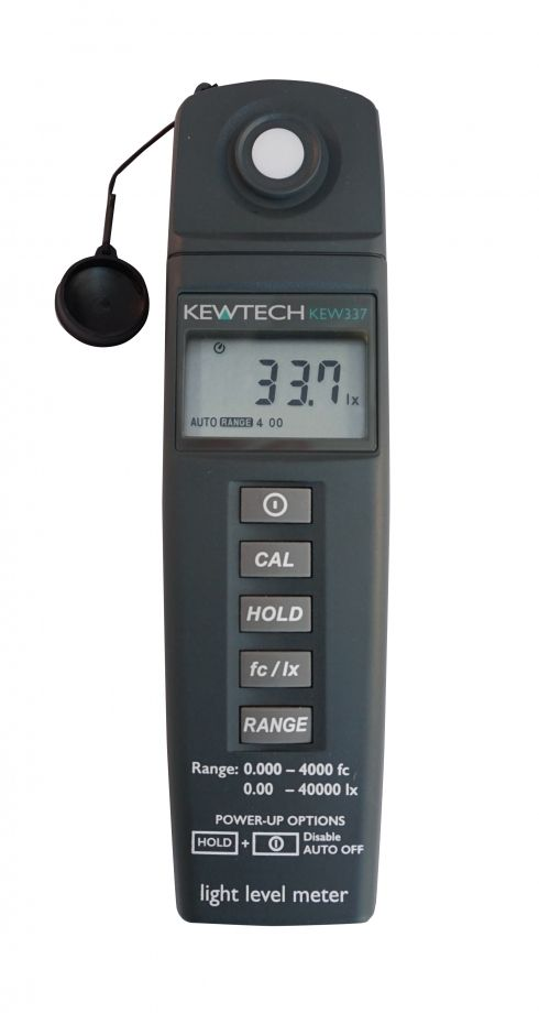 Kewtech KEW337 Light Meter 40000 Lux 9V Battery LCD Display