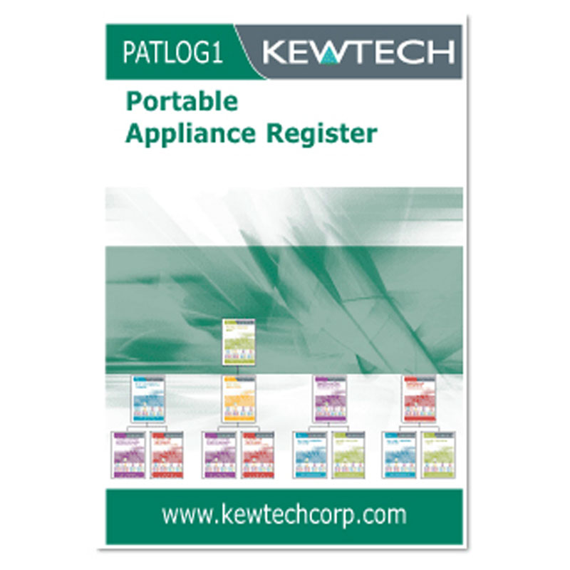 Kewtech PATLOG1 Portable Appliance Register Log Book