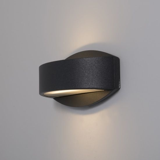 KSR Lighting KSR4124 Meridian 2.2 15w 3000K LED Wall Light Anthracite
