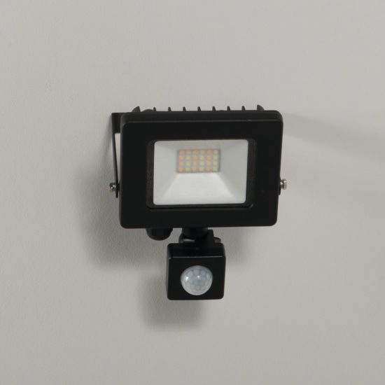 KSR Lighting KSR5281BLK Siena CCT 10w LED IP65 Floodlight Black c/w PIR
