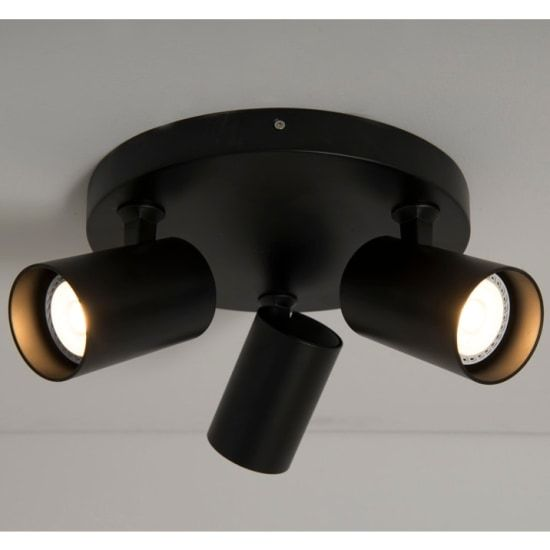 KSR Lighting KSR6263BLK Sofia GU10 Triple Plate Spotlight Black