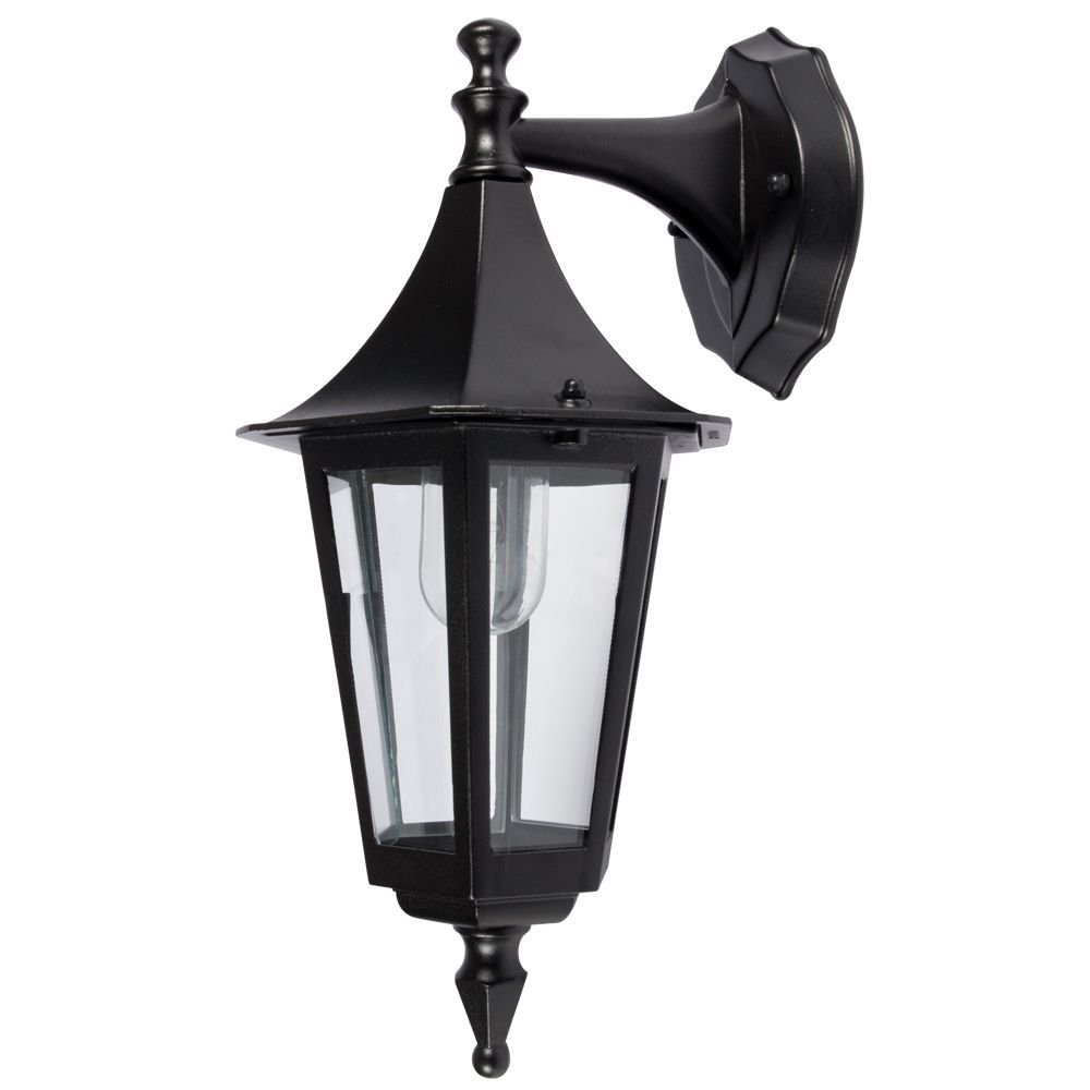 KSR Lighting KSR9901BLK Coria E27 6 Sided Upward Lantern Black
