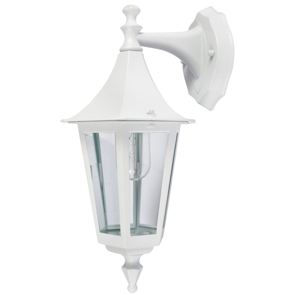 KSR Lighting KSR9901WHT Coria E27 6 Sided Upward Lantern White