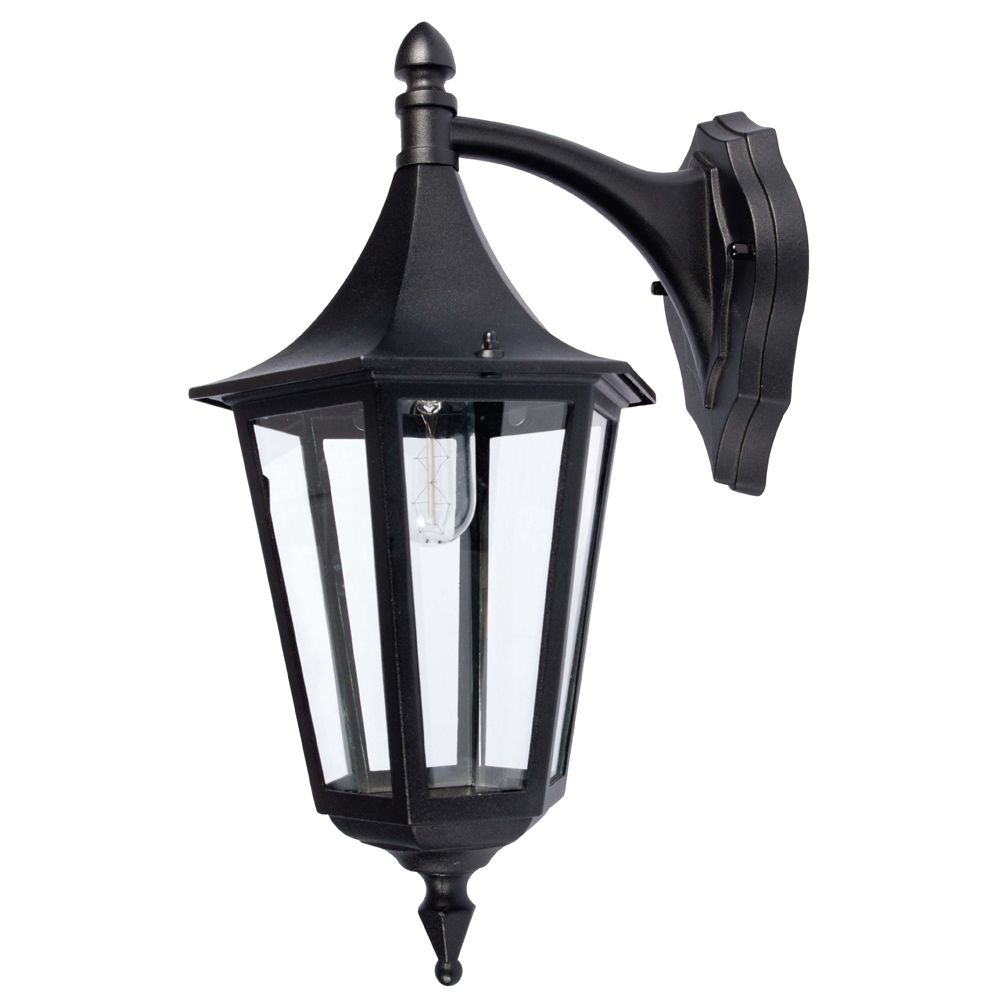 KSR Lighting KSR9960BLK Coria Grande E27 6 Sided Downwards Lantern Black