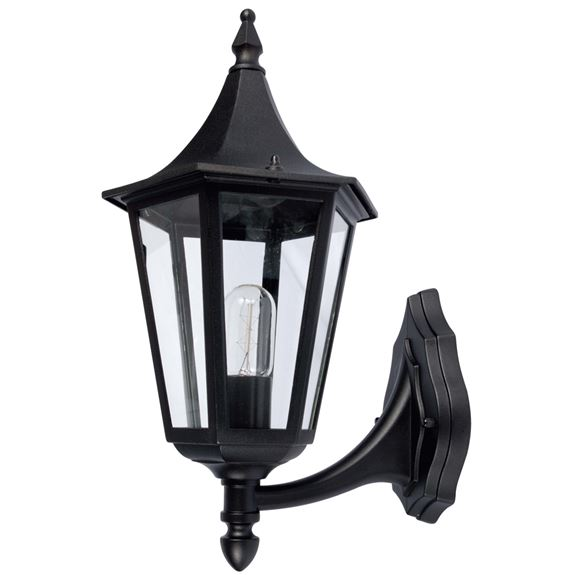 KSR Lighting KSR9961BLK Coria Grande E27 6 Sided Upward Lantern Black