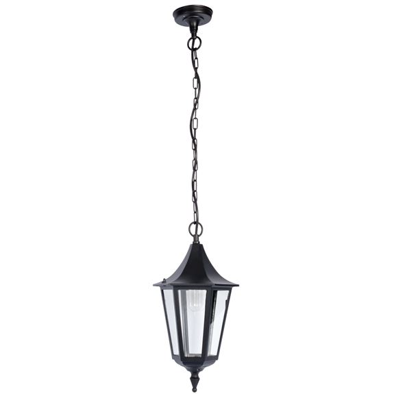 KSR Lighting KSR9962BLK Coria Grande E27 6 Sided Hanging Lantern Black