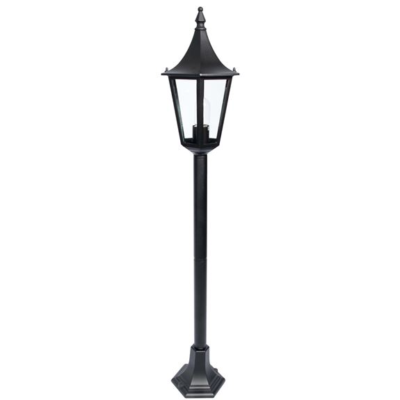 KSR Lighting KSR9964BLK Coria Grande E27 6 Sided 1m Mini Post Lantern Black