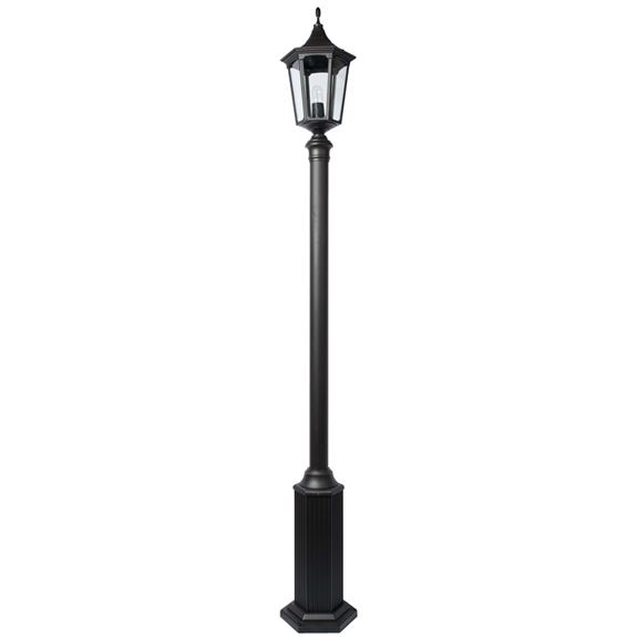 KSR Lighting KSR9965BLK Coria Grande E27 6 Sided 2.8m Street Post Lantern Black