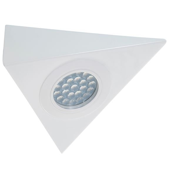KSR Lighting KSRCL173WH 1.5w 4000K 130lm LED Triangle 240v Cabinet Light White
