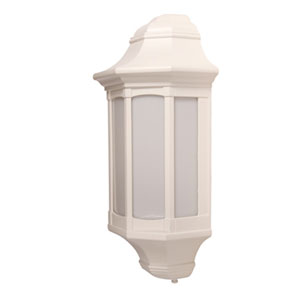KSR3258 Majorca 13W Low Energy Flush Wall Lantern with Opal Diffuser