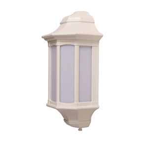 KSR3259 Majorca 23W E27 Low Energy Flush Wall Lantern with PIR Sensor and Opal Diffuser