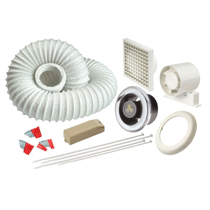 Extractor Fans Product : Manrose ledslktc led showerlite bathroom extractor fan and