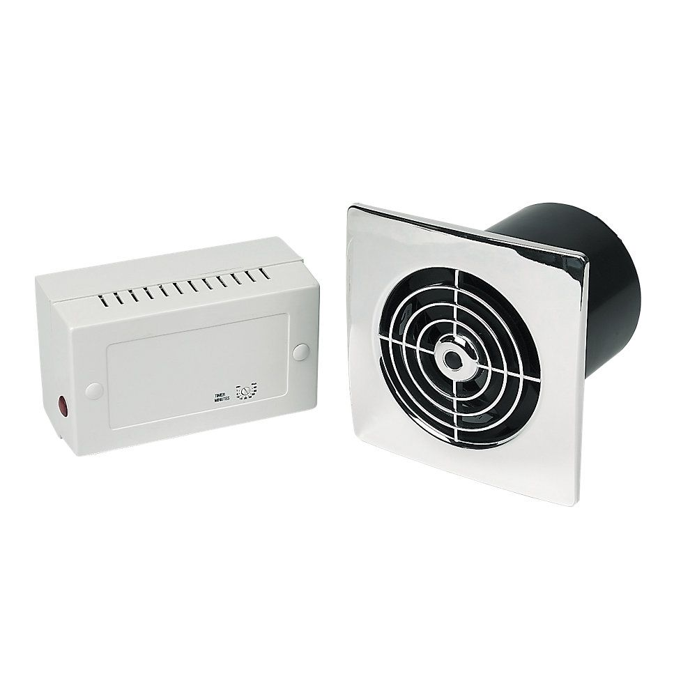 Manrose LP100SLVC Lo Profile 4 Extractor Fan Slimline Range With Low Voltage In Chrome