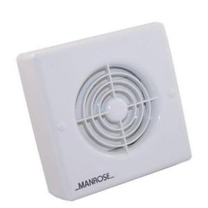 "Manrose XF100HP 4""/100mm Extractor Fan with Integral Humidistat and Timer - Pull Cord Operated"