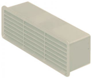 Supertube Rigid Duct Outlet Airbrick with Damper cotswold