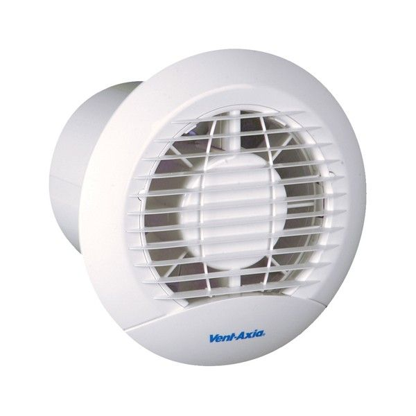 "Vent-Axia 427281 ECLIPSE 100XP 4"" Extractor Fan with Back-Draught Shutter and Pull Cord"