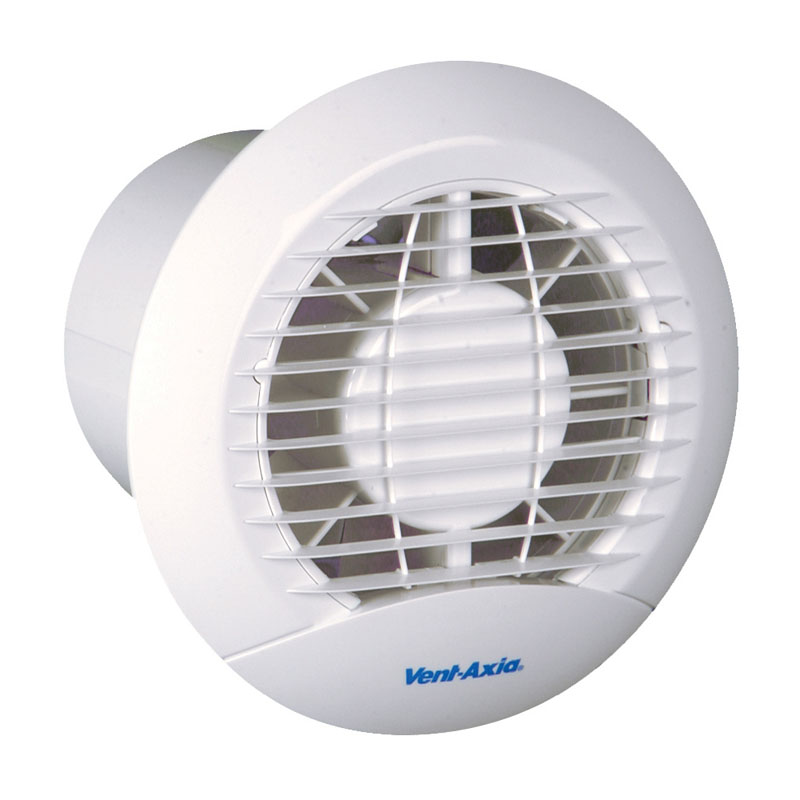 VentAxia ECLIPSE X Mm Extractor Fan With BackDraught - Circular bathroom exhaust fan